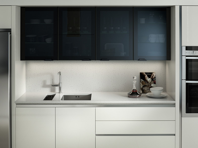 Feature Black Glazed Contemporary Kitchen Designs - Ayrshire
