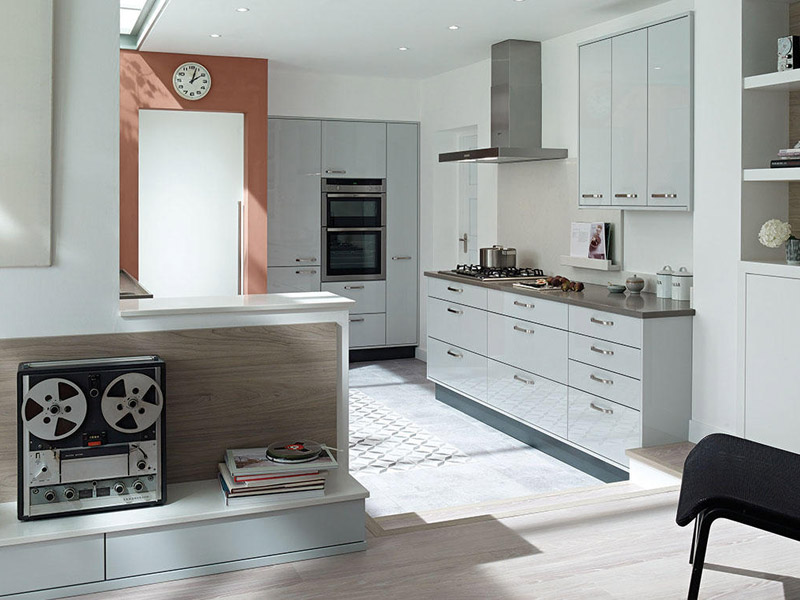 Porter Dove Grey Contemporary Kitchen Designs - Ayrshire