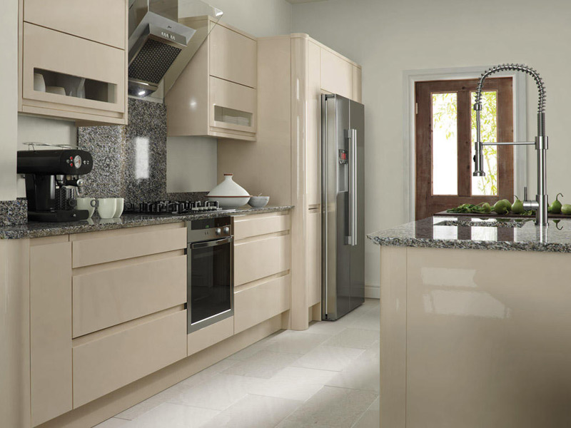 Remo Beige Contemporary Kitchen Designs - Ayrshire